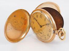 Savonette Taschenuhr 14k (585) Gold Guillochiertes Gehäuse 51,5 mm Vintage