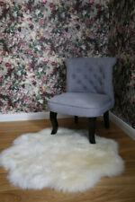Lambskin Rug Flower White Long Wool Real Merino Sheepskin fur Carpet