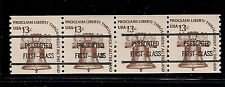 AMERICANA Sc# 1618a Precanceled 13c Bell Joint Line Pair, Gap Pair Combo, NH!