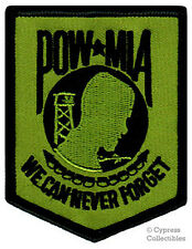 POW-MIA EMBROIDERED PATCH iron-on VIETNAM WAR GREEN MILITARY PRISONER KIA