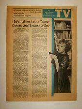 """TV LOG - 3/26/1961 - SF Examiner - EDIE ADAMS - """"An Omnibus of American Songs"""""""