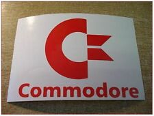 RED Retro 1980s Vintage Gaming COMMODORE Vinyl Sticker Decal