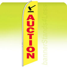 Auction Swooper Flag Feather Flutter Banner Sign 11.5' Tall - yb