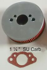 "1 ¼"" SU Carb Air Filter + Gasket for Triumph Spitfire 1300 Mk 3 4 1967-74"