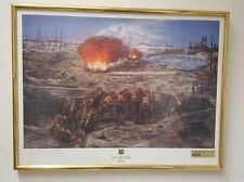 WWI Gas Attack Limited Edition Framed Art Print (Chemical Corps 75 Years)