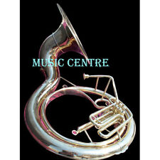 """SOUSAPHONE BIG 25""""  MADE OF PURE BRASS IN GOLD COLOR + CASE+ FREE SHIP+ GIG BAG"""