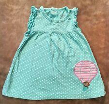 Carter's Child of Mine Dress girls Size 6-9 Months Green Polka Dot