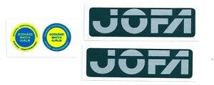 Replicated Vintage Jofa VM Helmet Decals Stickers 225 & 235 51 Style helmets