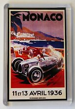 Monaco Vintage Travel Poster Fridge Magnet,Monaco GP 1936 Fridge Magnet