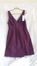 J Crew Plus Size NWOT 100% Silk Taffeta Purple Dress size 16 / formal bridesmaid