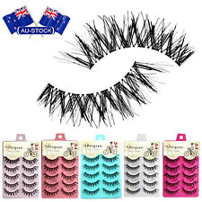 5Pair Natural Paraben-Free Eye Lashes Black Messy Cross False Eyelashes AU Stock