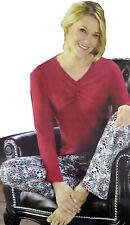 Damen Schlafanzug Pyjama Carla  Nachtwäsche GR S L  Set V Neck Bettwäsche