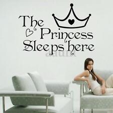 The Princess Sleeps Here Home Decor Room Wall Sticker Wallpaper Art Vinyl Decal