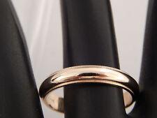 14K Yellow Gold Men's Ring Wedding Band 4.0mm width Milligrain Edge