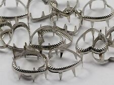 15MM Heart Rim Settings 36 Pieces Silver