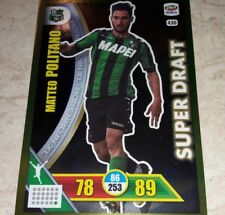 CARD ADRENALYN CALCIATORI PANINI 2017/18 SASSUOLO POLITANO 430 SUPER DRAFT