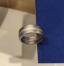 Niessing Ring 7 mm Band - Stainless Steel / Platinum - Size 5.75/6