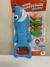 Hungry Shark Bath Toy for Kids Catch Game with 4 Fishes Bathtub Fishing 3+ Ages