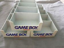 3x graue Nintendo Gameboy Schuber / Tray für Vitrine / Vitrinenschuber / Case