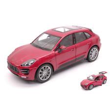 PORSCHE MACAN TURBO 2014 PRUNE METALLIC 1:24 Welly Auto Stradali Die Cast