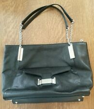 LAUREN RALPH LAUREN IVY LEATHER TOTE HANDBAG BLACK 883820609574 REATAIL IS $348