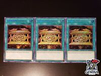 YuGiOh! Gold Sarcophagus x3 Hisu Secret Rare NM
