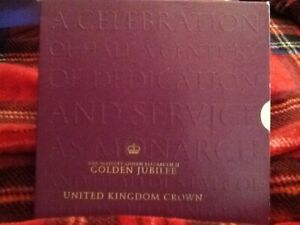 Golden Jubilee Crown £5 coin pack. Royal Mint. unsealed. 2002. Beautiful Coin.