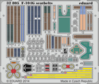 Eduard 1/32 color photoetch seatbelts 32805 for the F-104G by Italeri