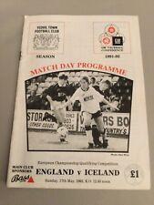 More details for 07/11/1992 england women v iceland uefa european women's championship qualifier