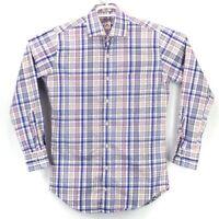 Peter Millar Men's Size Small Multicolor Plaid LS Button Down Shirt euc
