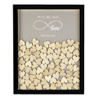 Personalised Love Forever Wooden Drop Top Wedding Guest Book Box Frame 130 Heart