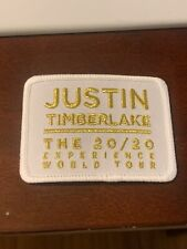 Justin Timberlake The 20/20 Experience World Tour Patch White And Gold Rare 3x2