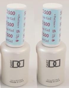 2pc DND Daisy Base Coat 500 Soak Off DND Gel Polish LED/UV .5oz DND500