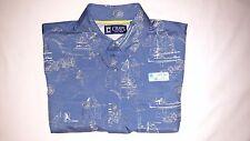 Chaps Pioneer Men's UPF 50+ Sun Protection Short Sleeve Shirt - Size M (ret $55)