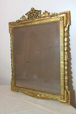 antique ornate 1800's gold leaf gilt wood ornamental picture frame 13x16 mirror