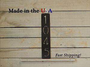 Long Vertical Mailbox Post Address Plaque   HN1040