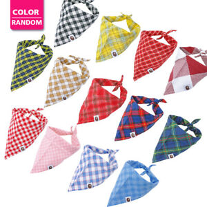 50pcs Wholesale Pet Dog Bandana Slide On Collar Soft Cotton Scarf Neckerchief