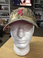 Browning Camo Camouflage Pink RealTree Hunting Fishing Baseball Cap Hat