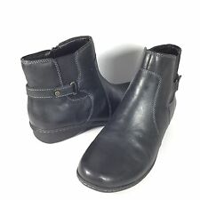 Naturalizer #5 Rylen Womens Size 11 M Black Leather Ankle Boots.