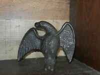 Vintage Black Cast Iron Metal EAGLE Door Stop - Bookend