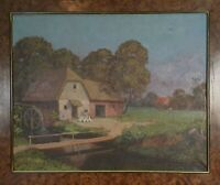 RURAL LANDSCAPE. OIL ON CANVAS. NOT SIGNED. TWENTIETH CENTURY.