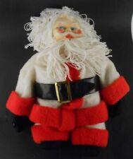"""Handmade Santa Claus Doll Vintage Yarn Hair & Beard 20"""" tall Christmas Decor"""