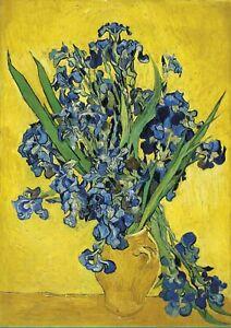 The Irises - Van Gogh A3 size 29.7x42cm QUALITY Decor Canvas Art Print Unframed
