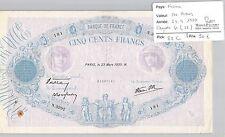 BILLET FRANCE - 500 FRANCS - 23.3.1939 - RARE !!!