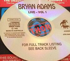 Bryan Adams Live Vol. 1 Aust. CD Super Rare Only Heaven Run To You Summer Of '69
