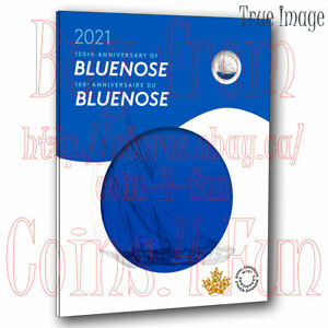 1921-2021 100th Anniversary of Bluenose 7-coin Gift Set Card $2,$1,25c,3x10c,5c