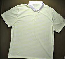 NIKE Golf Mens Polo Shirt Standard Fit Dri Fit XXL 2XL Striped EUC
