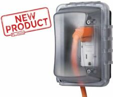 Outdoor Electrical Weatherproof Cover Single Outlet Protector Box Enclosure NEW
