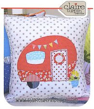POPPIES VAN - Applique Sewing Craft PATTERN - Cushion Shabby Chic