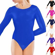 Girls Uniform Leotard Dance Gymnastics Ballet Long Sleeve Leotards Kids Age 3-13